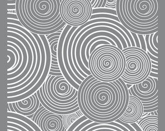 Stencil spiral dough fimo polymer clay