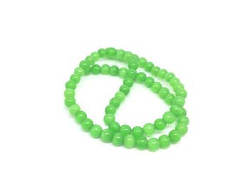 65 color sea green 6mm cat's eye beads