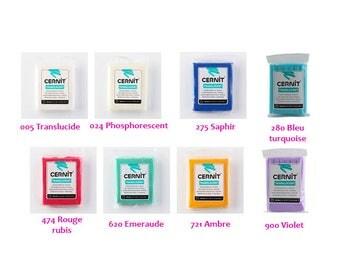 Bread dough Cernit Translucent 56 gr 8 color choices - CERNIT Translucent clay 2 oz 8 Colours
