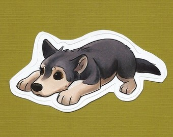 Wolf Pup vinyl sticker