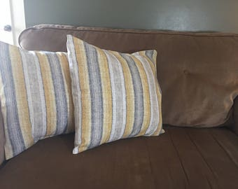 Grey and Yellow pillow cover set