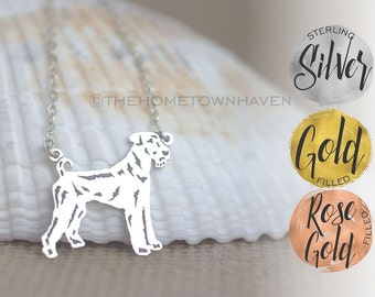 Airedale Terrier Necklace - King of Terriers, Dog lover necklace, Bingley Terrier