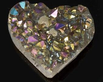 Titanium Aura Quartz Crystal Heart 3.3 oz. A-811
