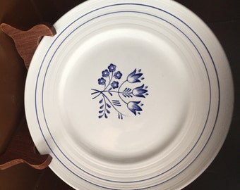 BOOTHS BLUE MIST, Made in England, Canterbury, 4 Salad Plates