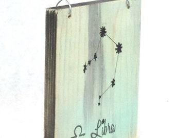 Libra Zodiac Constellation Sign - Reclaimed Wood Signs