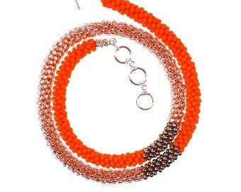 Orange Blossoms Necklace-to-Bracelet Style