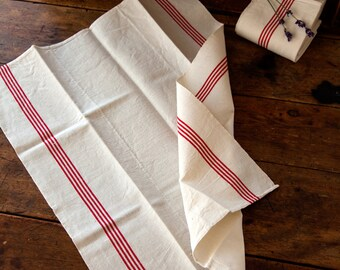 2 Vintage French Tea Towels – Pure Linen – Unused – No Monogram – Free Shipping within the USA