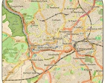 Bristol Vintage Map Coasters