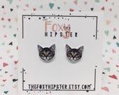 Cat Kitten Stud Earrings