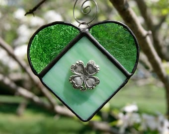 Stained Glass Shamrock Ornament or Sun Catcher