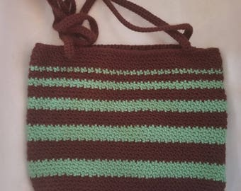 Striped Shoulder Purse