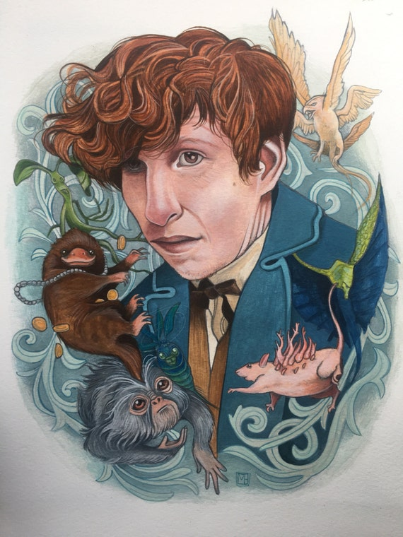 """Newt's Beasties 8.5""""x11"""" signed & numbered archival art print--LIMITED EDITION in COLOR"""