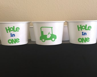 Golf party snack cups