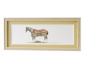 Horse and Dog Print