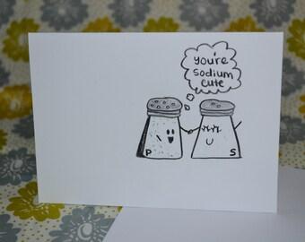 sodium cute love card