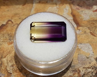 16.20ct Natural Bolivian Ametrine Emerald Cut Gemstone