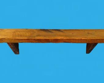 "barn wood shelf, fire place mantel piece, DIY 48"" by 10.5"" deep by 2"" , from a demolished barn-613"