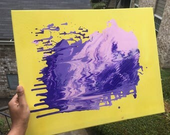 Purple reign 16x20 acrylic abstract painting
