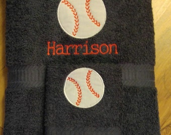 Baseball Towels Etsy