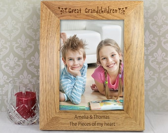 personalised picture frame great grandchildren grandparent gift grandad gift grandma gift 6x4 picture frame wood picture frame personalized