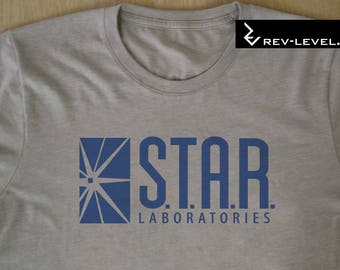 Flash Cosplay Inspired Star Labs T-Shirt - The Flash S.T.A.R. Laboratories Tee by Rev-Level
