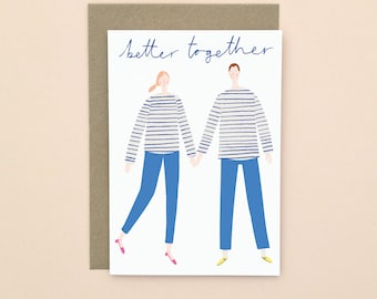 Better Together Greetings Card A6