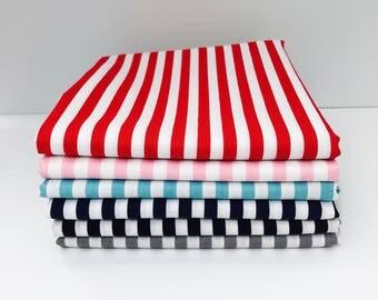 """1/2 Yard Bundle 1/4"""" Stripe by Riley Blake Designs-6 Fabrics"""