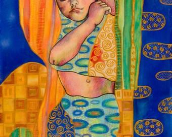 Klimt Style Portrait