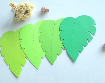 Jungle leaf die cuts (H),Large leaft die cuts Leaf cut outs Tropical leaf die cuts Paper Gold leaf die cuts,Tropical leaf cut outs