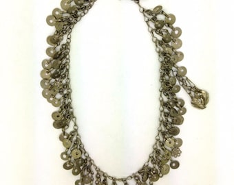 """22"""" x 1.5"""" Vintage Kuchi Two RowTribal Chain DIY Jewelry Supply Belly Dance"""