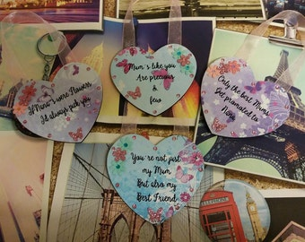 Small Mothers Day Hanging heart Plaques