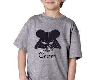 Darth Vader Mickey Shirt/Darth Vader Mickey/Darth Vader Mickey Ears Shirts/Star Wars Personalized Disney vacation shirt- Darth Vader gift