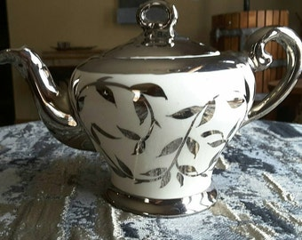 Rare Myott Mini Teapot 1505f  hand painted old silver lustre