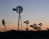 Windmill Photo - Landscape Photography, Sunset Print