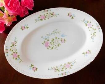 Floral China Platter