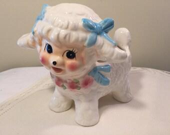 Lamb baby planter - vintage baby planter - Brinn's baby planter - kitschy lamb planter - vintage nursery - vintage baby shower
