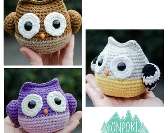 Handmade cute amigurumi crochet baby bird Owl toy decoration all ages. Choose your own combination of colours!