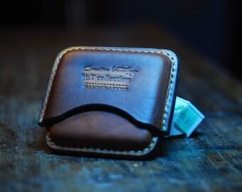 Ascetic leather cigarette case.