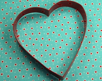 Learge Red Metal Heart Valentine Cookie Cutter