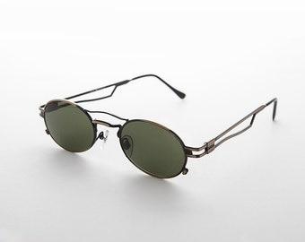 Sporty Oval Steampunk RX Optical Quality Vintage Sunglasses - Iggy