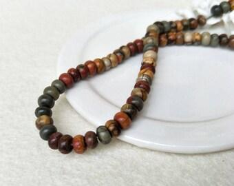 15.5 inch Roundel abacus gemstone Beads, Genuine Semiprecious Gemstone Bead, stone beads Jewelry necklace making SZ30