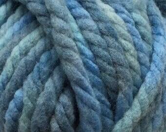 Sirdar Bigga Fashion Yarn with Wool Super Bulky Yarn 5-6 Available in 3 colors  Black~Denim~Horizon Blue~ 44yds 100g 40m per skein
