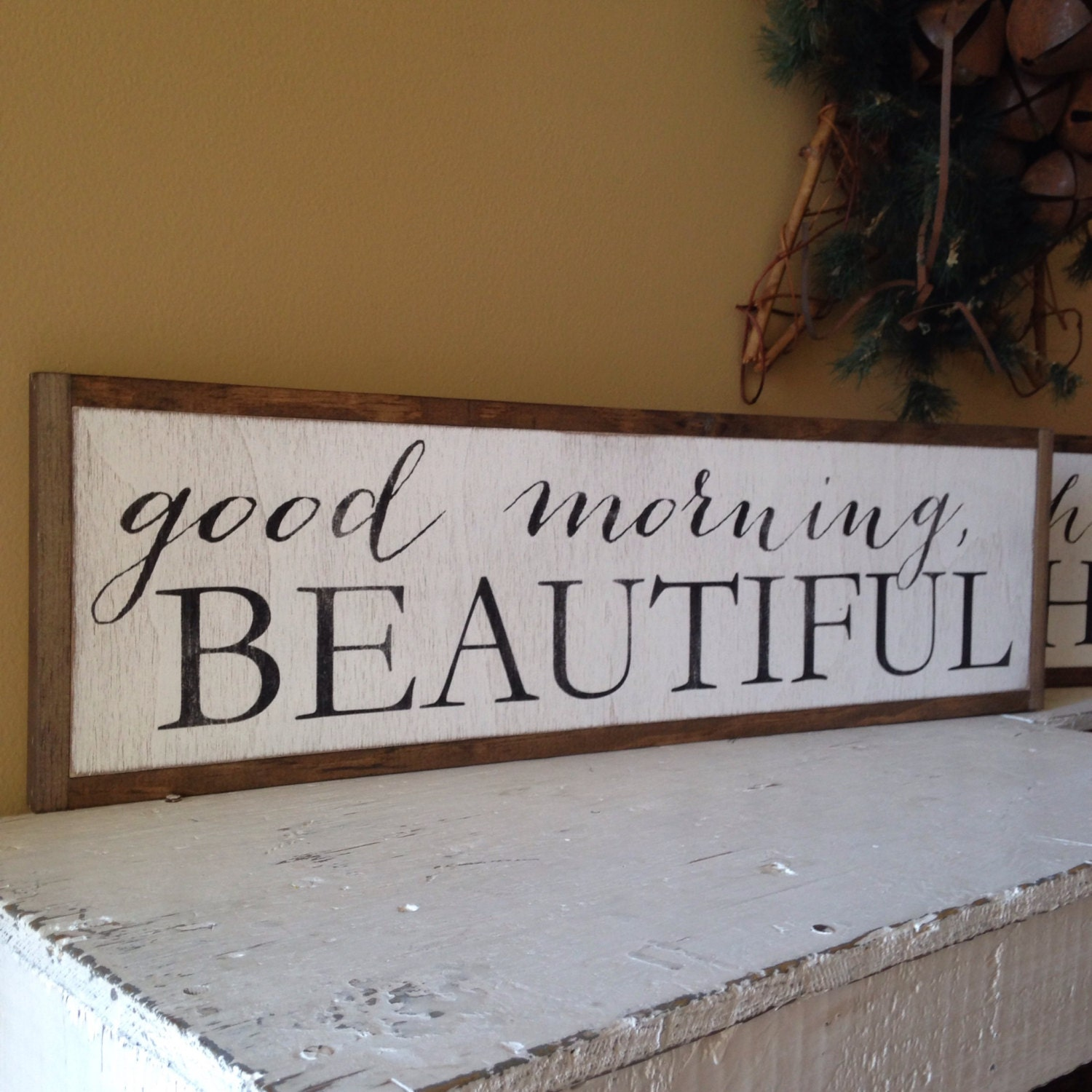 Good Morning Beautiful Wall Art : Set of good morning beautiful hello there handsome