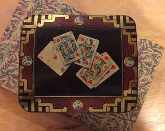 A  vintage games tin