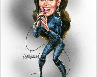 Don Howard's Depiction of Shania Twain Celebrity Caricature
