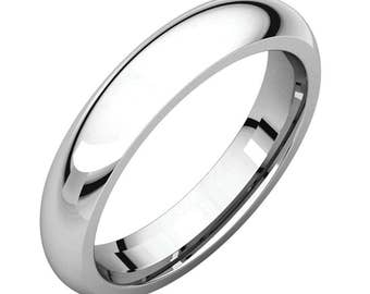 4mm Titanium Steel Comfort Fit Wedding Band, Wedding Jewelry, Wedding Ring Band