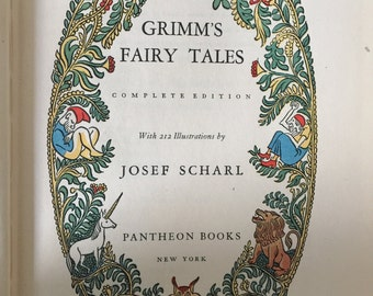 Grimm's Fairy Tales, First Edition Thus, Pantheon Books 1944