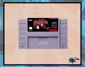 Final Fantasy III 3 SNES 16-Bit Game Repro Cartridge USA Ntsc Usa Seller English