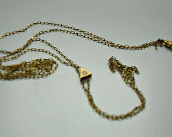 Vintage Victorian Pocket Watch Chain with Opal Slide