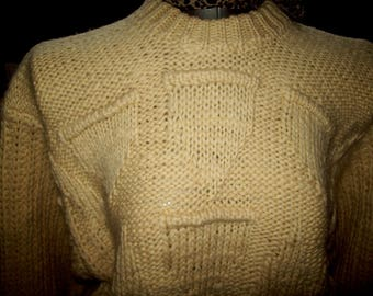 Two ladies new hand knitted woolen jumpers